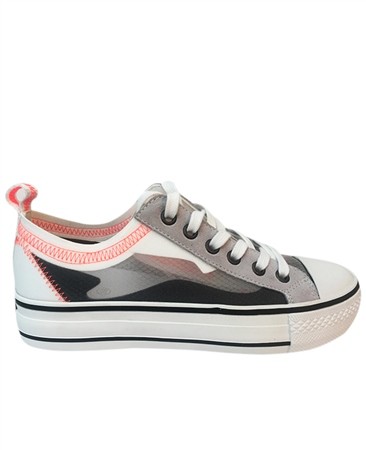 Ash 'Vertu' Abstract Print Lace Up Trainers