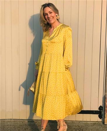 Dea Kudibal 'Cathrin' Star Print Tiered Silk Dress