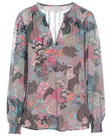 Dea Kudibal 'Nora' Woodland Print Silk Tunic