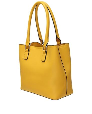 Envy Bags Block Colour Grab Bag - Mustard