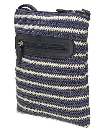 Envy Bags Rose' Cross Body Satchel - Navy Stripe