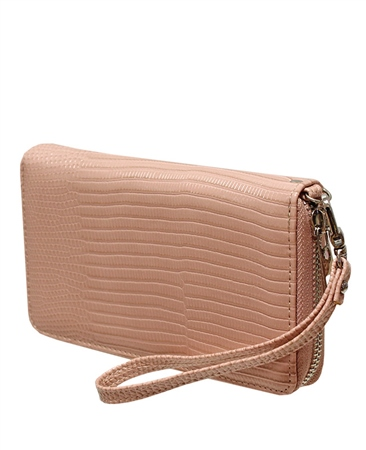 Envy Bags Snakeskin Wrist Strap Purse - Pink