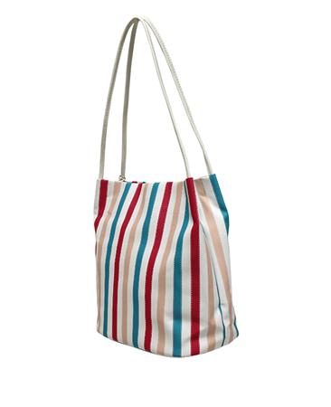 Envy Bags Striped Hobo Bag