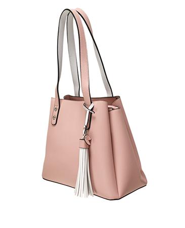 Envy Bags Tassel Detail Shoulder Bag - Pink