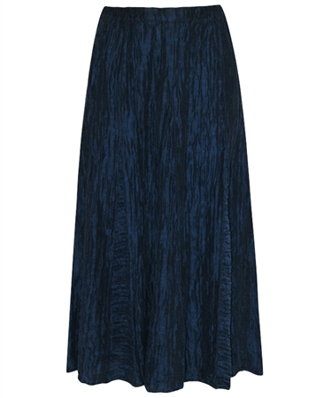 Grizas Linen/Silk Mix Crinkle Flared Midi Skirt