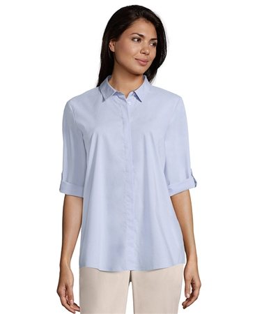 Betty Barclay Covered Button Blouse - Light Opal  - Click to view a larger image