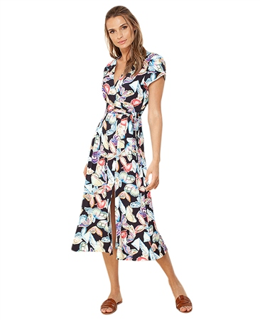 Hale Bob 'Sasha' Butterfly Wrap Jersey Dress