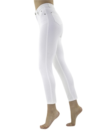 Marble Slim Fit 7/8th Jeans - White