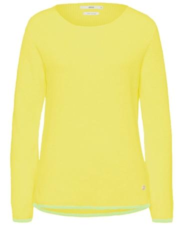 Brax 'Liz' Round Neck Ribbed Jumper - Yellow