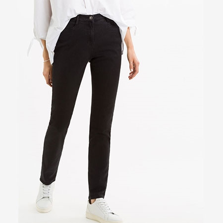 Brax 'Carola' Straight Fit Jeans - Clean Black