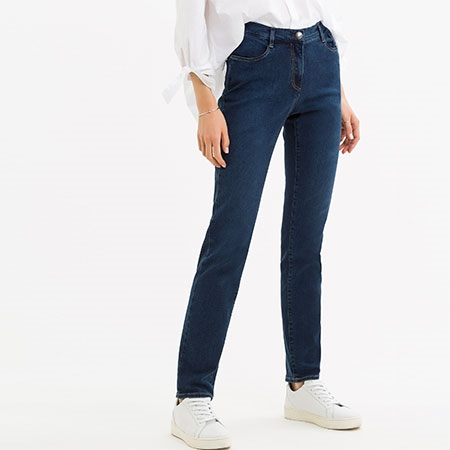 Brax 'Mary' Regular Fit Jeans - Used Blue