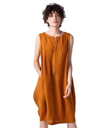 Oska 'Dag' 100% Linen Tie-Neck Lightweight Dress
