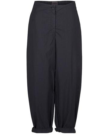 Oska 'Matia' 100% Cotton Cropped Wide-Leg Trousers - Cosmos