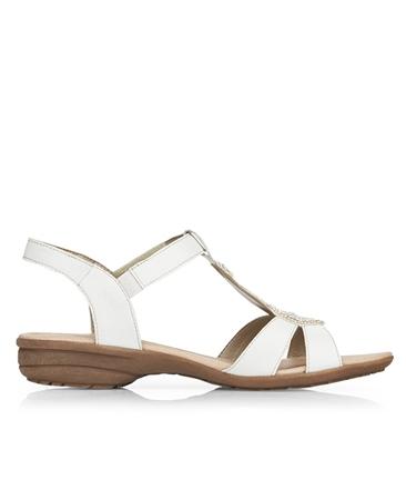Remonte Embellished Sandals - White