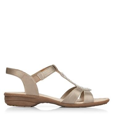 Remonte Embellished Sandals - Silver