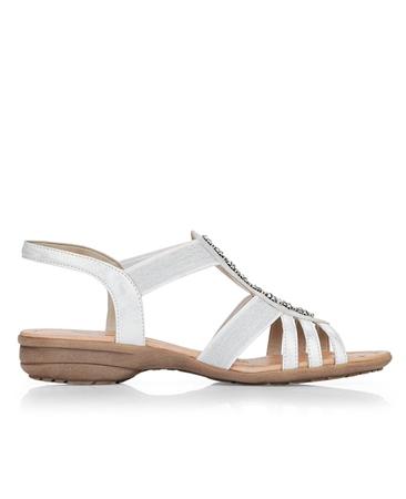 Remonte Embellished Sandals - Ice