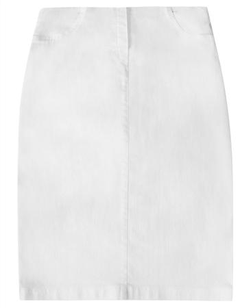 Robell 'Maraike' 62cm Pull On Denim Skirt - White