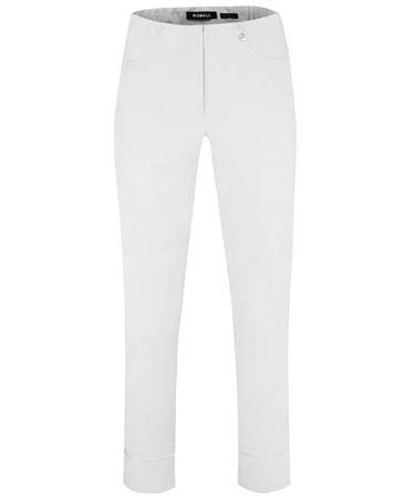 Robell 'Bella' 7/8th Cut-Off Trousers - White