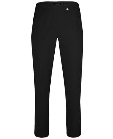 Robell 'Bella' 7/8th Cut-Off Trousers - Black