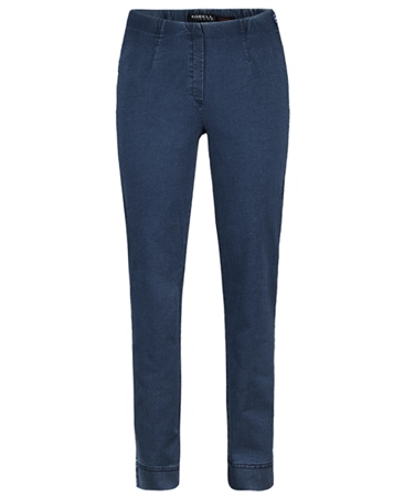 Robell 'Marie' Full Length Pull On Jeans - Denim  - Click to view a larger image
