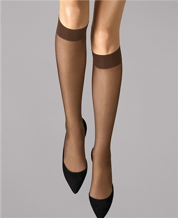 Wolford Tights Satin Touch 20 Knee-High - Coca