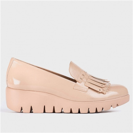 Wonders Fringe Detail Wedged Loafers - Beige 1
