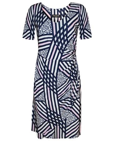 Georgede Abstract Stripe Wrap Dress