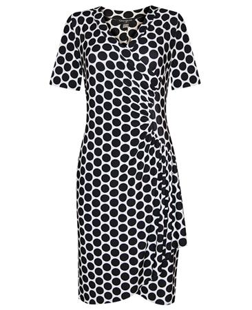 Georgede Spot Print Wrap Dress
