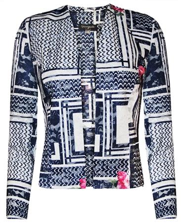 Georgede Multi Print Lace Jacket