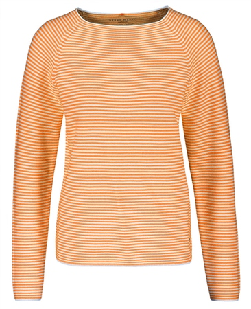 Gerry Weber Striped Cotton Jumper - Orange