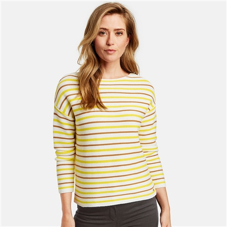 Gerry Weber Striped Cotton Jumper  - Click to view a larger image