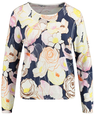 Gerry Weber Stylised Floral Cotton Jumper