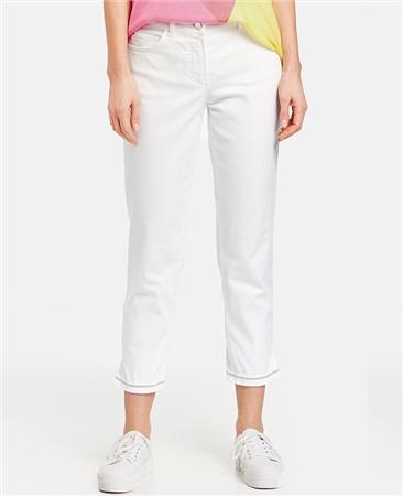 Gerry Weber Cotton Blend 7/8 Jeans With Hem Detail