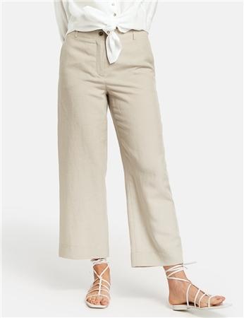 Gerry Weber Linen/Cotton Blend Cropped Trousers