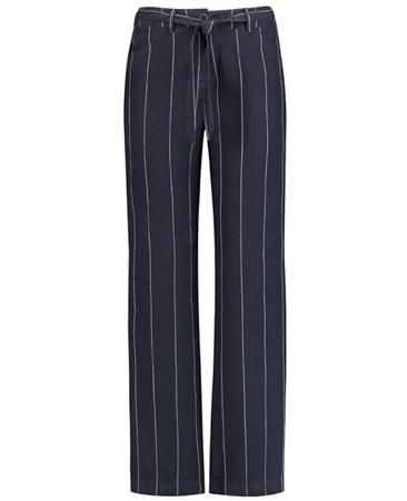 Gerry Weber Pinstripe Linen Trousers