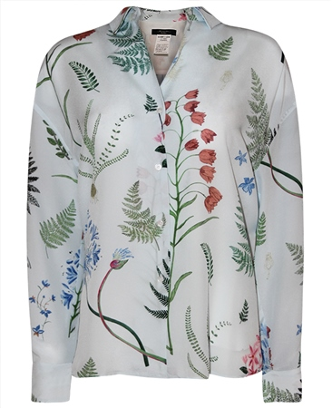 MaxMara Weekend Botanical Print Silk Shirt