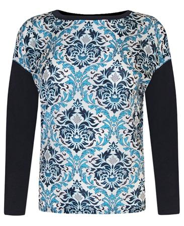 MaxMara Weekend Baroque Print Long Sleeve T-Shirt