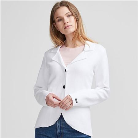 Holebrook 'Pernilla' 100% Cotton Jersey Jacket - White