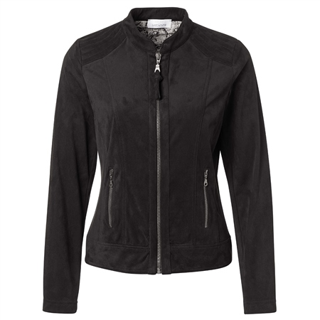 Just White Zip Detail Jacket