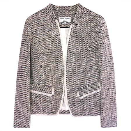 Helene Berman 100% Cotton 'Notch' Jacket - Blue Mix  - Click to view a larger image