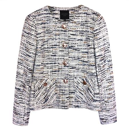 Helene Berman Metallic Thread Button Detail Jacket  - Click to view a larger image