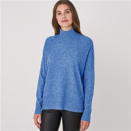 Repeat 100% Cashmere Button Back Jumper  - Click to view a larger image
