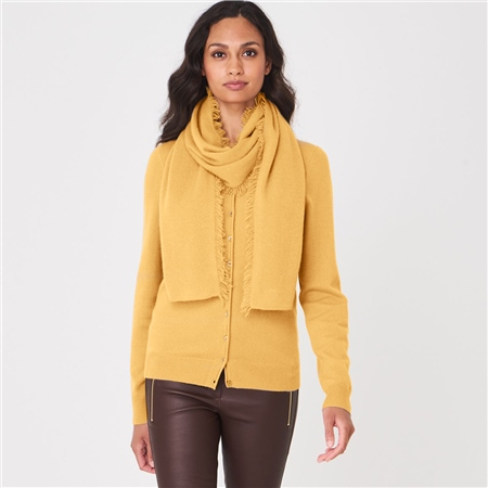 Repeat 100% Organic Cashmere Scarf - Saffron  - Click to view a larger image