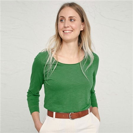 Seasalt 'Simple Life' 100% Organic Cotton T-Shirt - Field Green  - Click to view a larger image