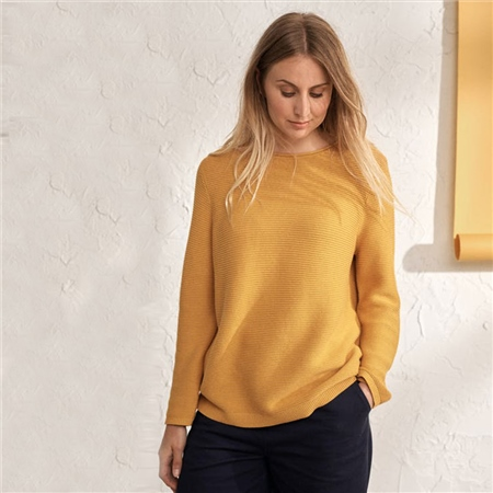 Seasalt 'Makers' 100% Cotton Jumper - Sunglow  - Click to view a larger image