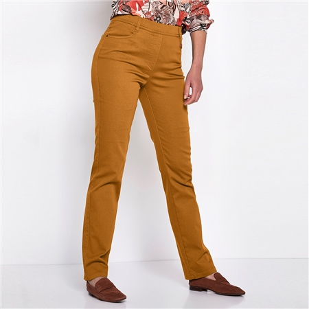 Toni 'Alice' Pull On Trousers - Curry  - Click to view a larger image