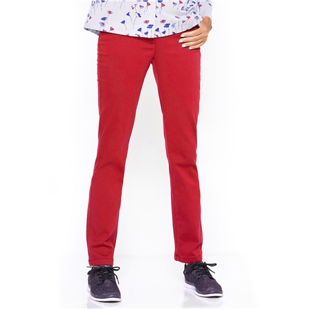 Toni 'Alice' Pull On Trousers - Red  - Click to view a larger image