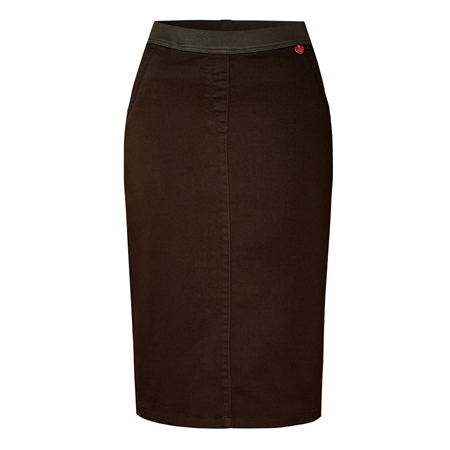 Toni 'My Darling' Pull On Skirt - Brown  - Click to view a larger image