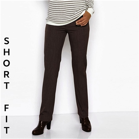 Toni 'Steffi' Short Fit Classic Trousers - Chestnut  - Click to view a larger image
