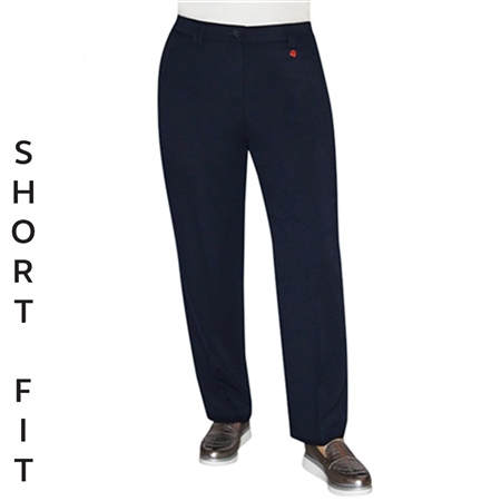Toni 'Kelly' Short Fit Zip Pocket Wide Leg Trousers - Marine